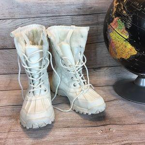 Steve Madden Girl White Winter Faux Fir Boots